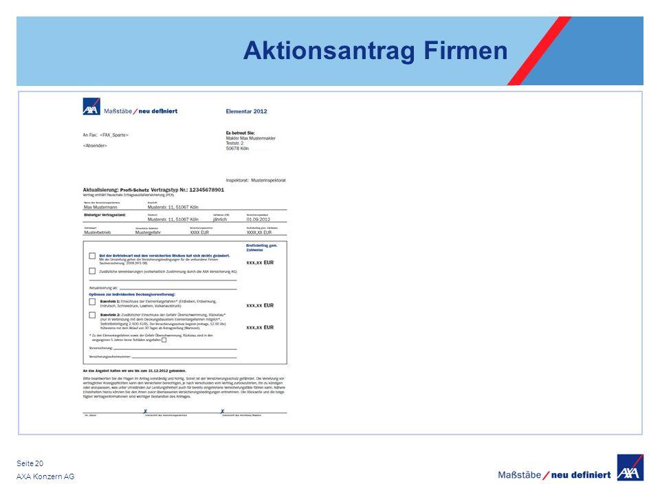 Aktionsantrag Firmen AXA Konzern AG