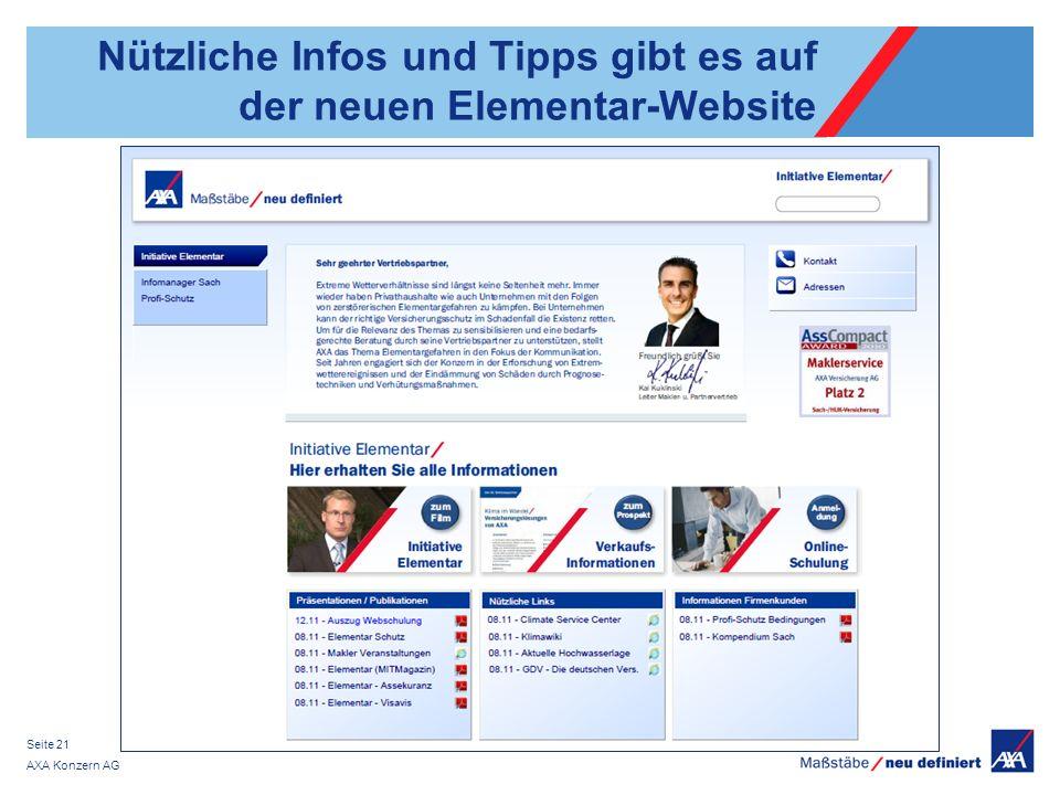 Nützliche Infos und Tipps gibt es auf der neuen Elementar-Website