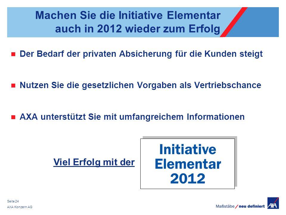 Machen Sie die Initiative Elementar auch in 2012 wieder zum Erfolg