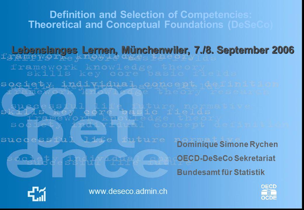 Lebenslanges Lernen, Münchenwiler, 7./8. September 2006