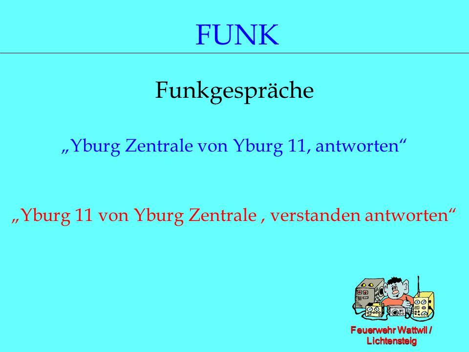 """FUNK Funkgespräche """"Yburg Zentrale von Yburg 11, antworten"""