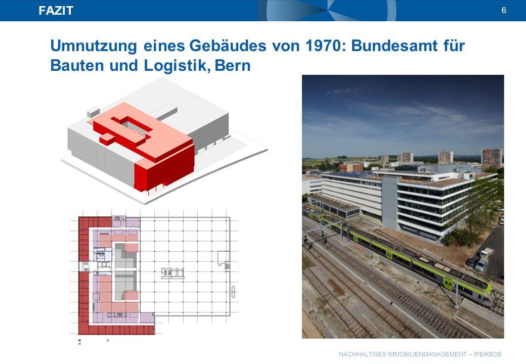 FAZIT 6 Umnutzung eines Gebäudes von 1970: Bundesamt für Bauten und Logistik, Bern
