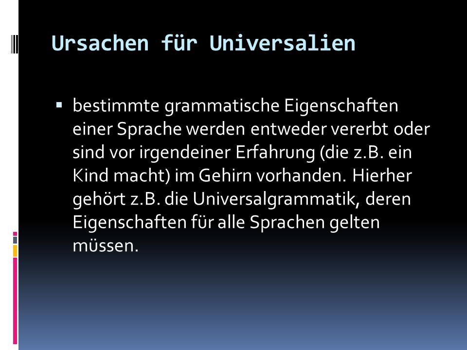 Ursachen für Universalien