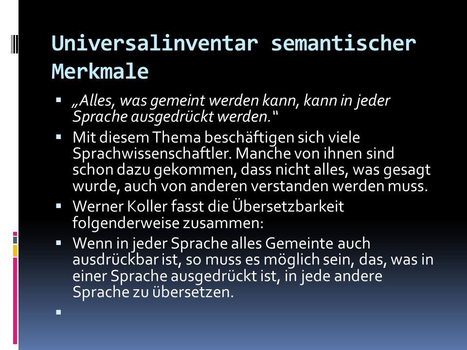 Universalinventar semantischer Merkmale
