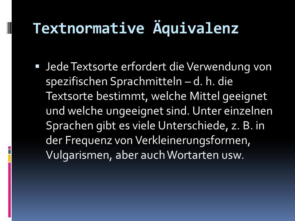 Textnormative Äquivalenz