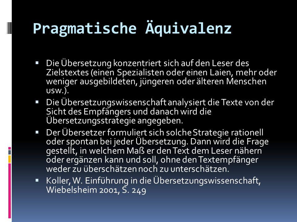 Pragmatische Äquivalenz