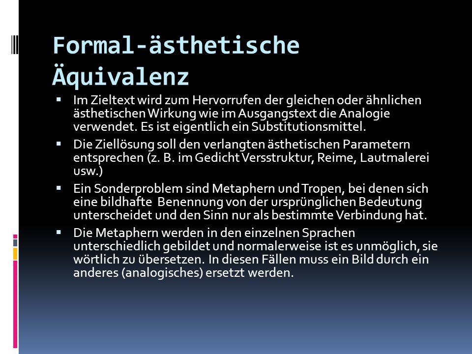 Formal-ästhetische Äquivalenz