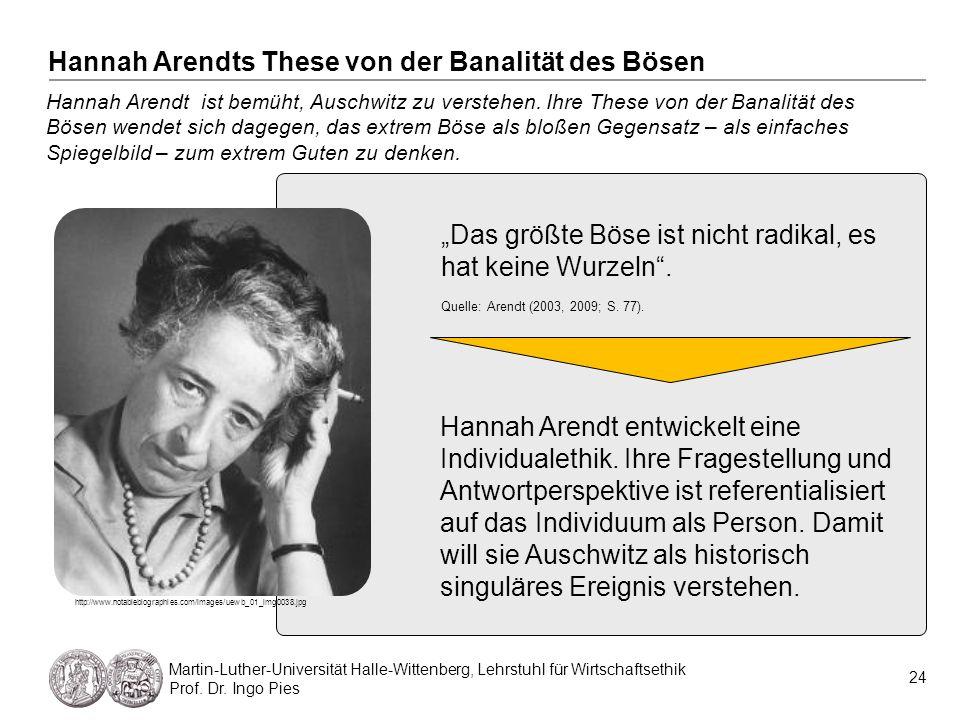 Hannah Arendts These von der Banalität des Bösen
