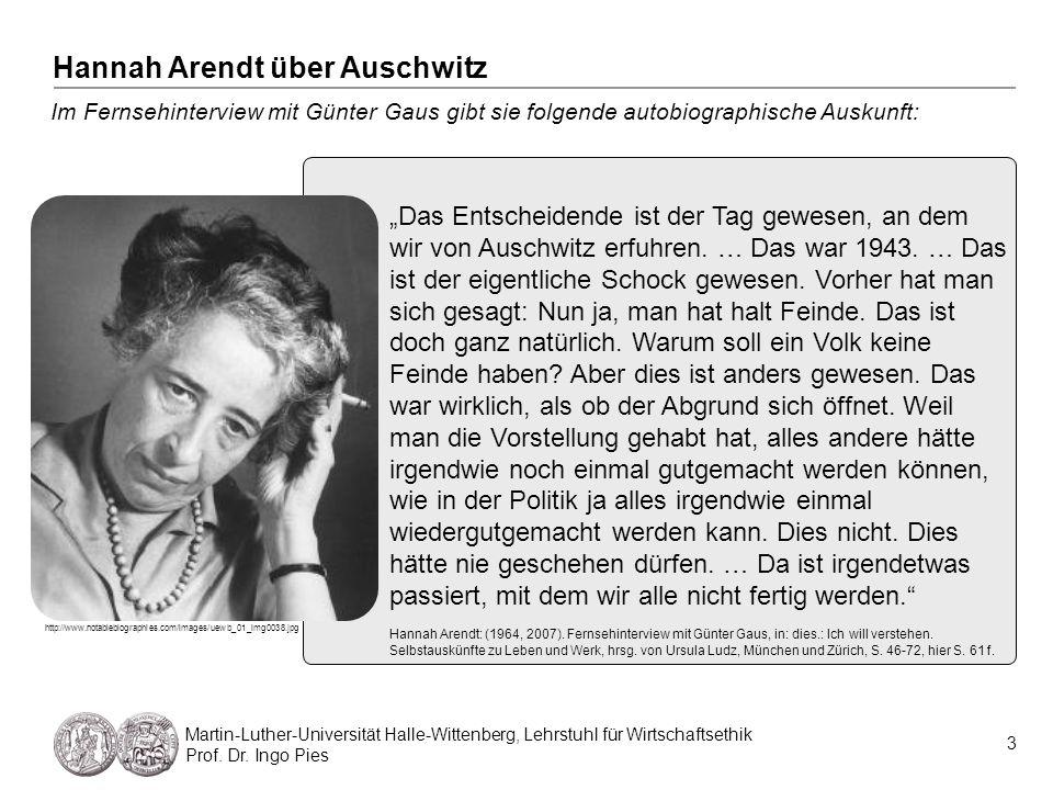 Hannah Arendt über Auschwitz