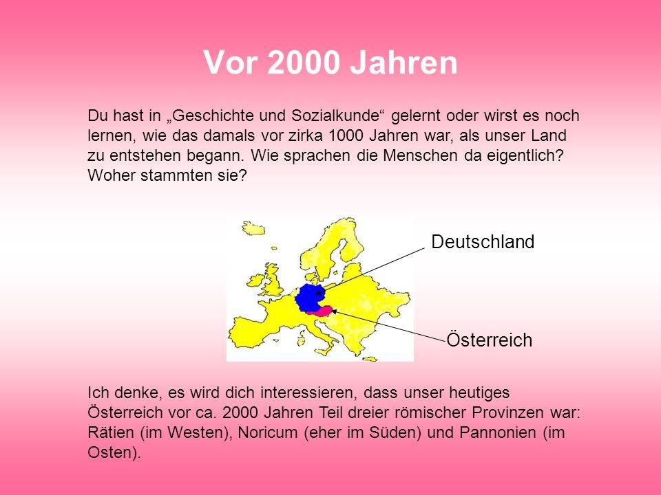 Vor 2000 Jahren Deutschland Österreich