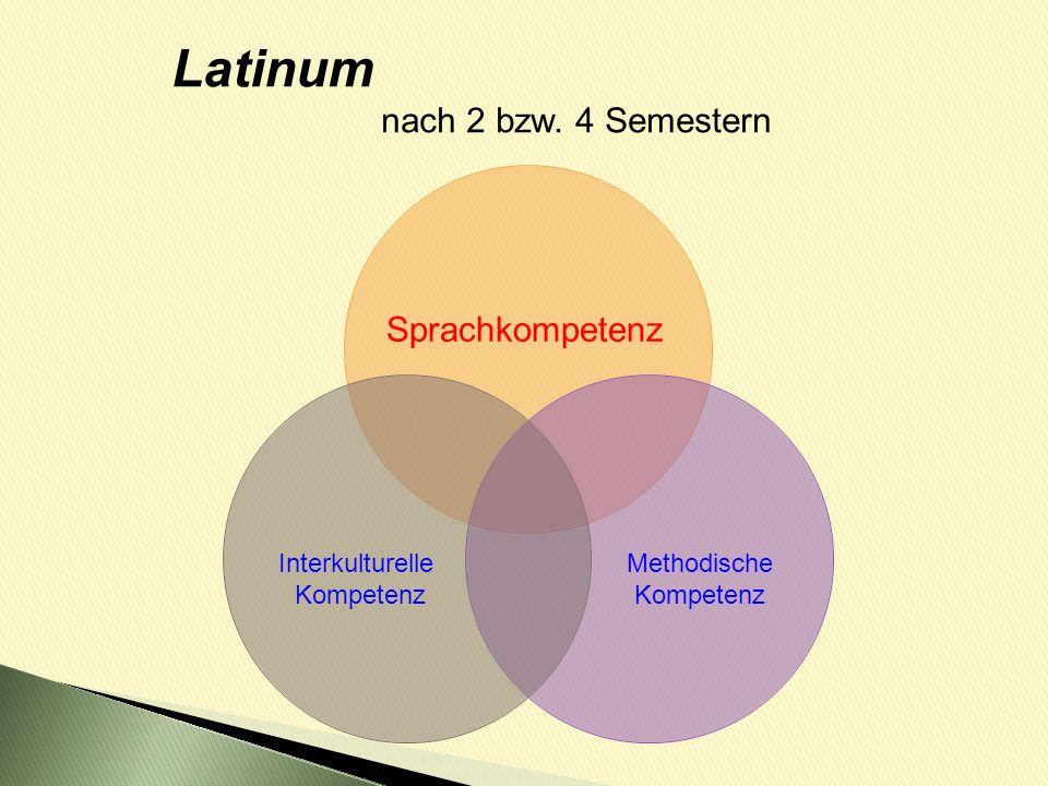 Latinum nach 2 bzw. 4 Semestern Sprachkompetenz Interkulturelle