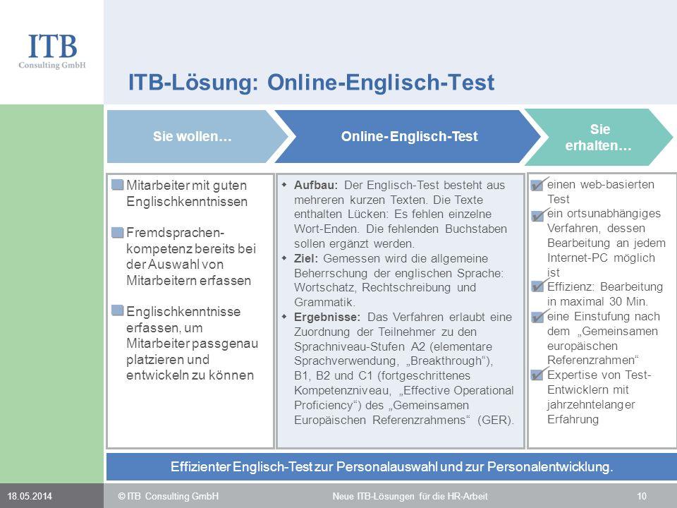 ITB-Lösung: Online-Englisch-Test