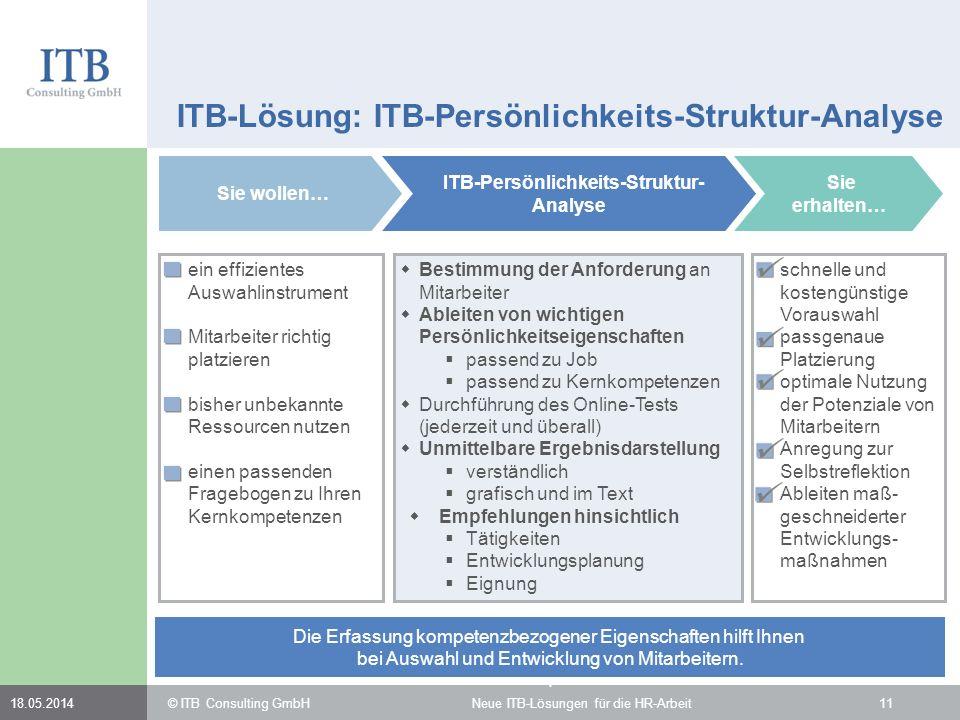 ITB-Lösung: ITB-Persönlichkeits-Struktur-Analyse