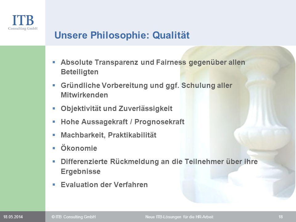 Unsere Philosophie: Qualität