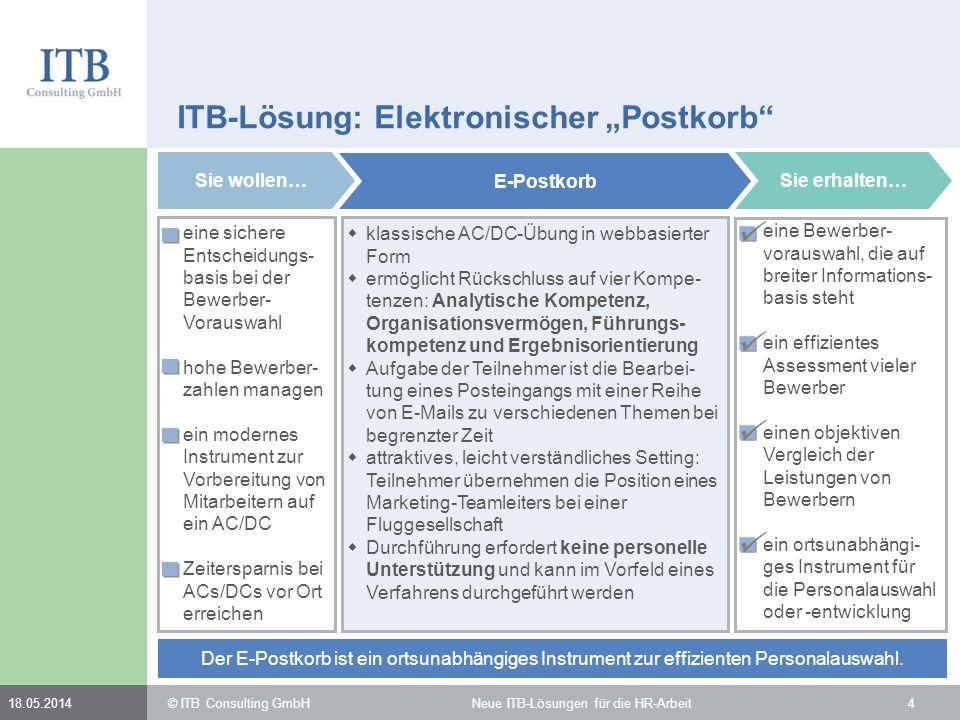 "ITB-Lösung: Elektronischer ""Postkorb"