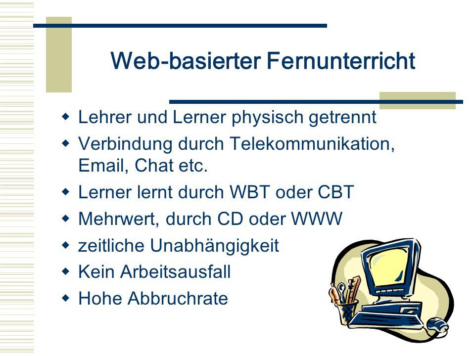 Web-basierter Fernunterricht