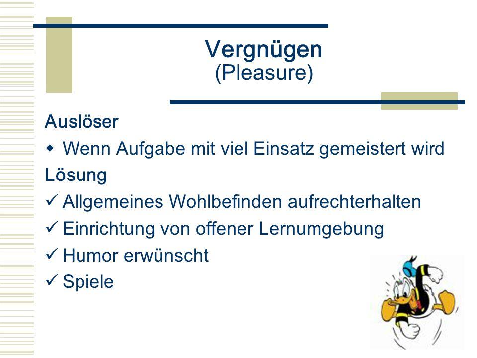 Vergnügen (Pleasure) Auslöser