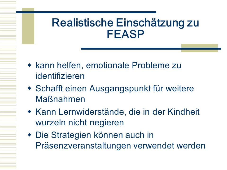 Realistische Einschätzung zu FEASP