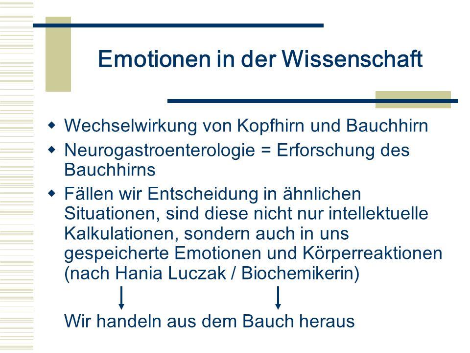 Emotionen in der Wissenschaft