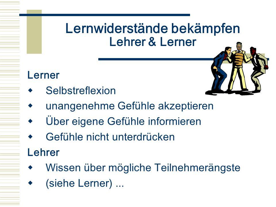 Lernwiderstände bekämpfen Lehrer & Lerner