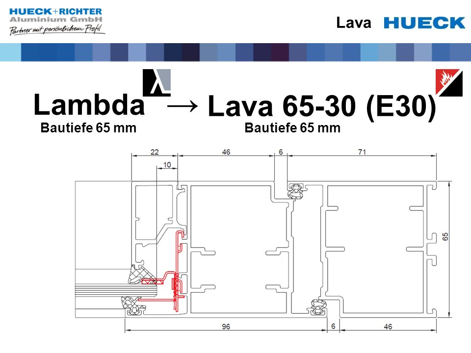 Lava Lambda Lava 65-30 (E30) → Bautiefe 65 mm Bautiefe 65 mm