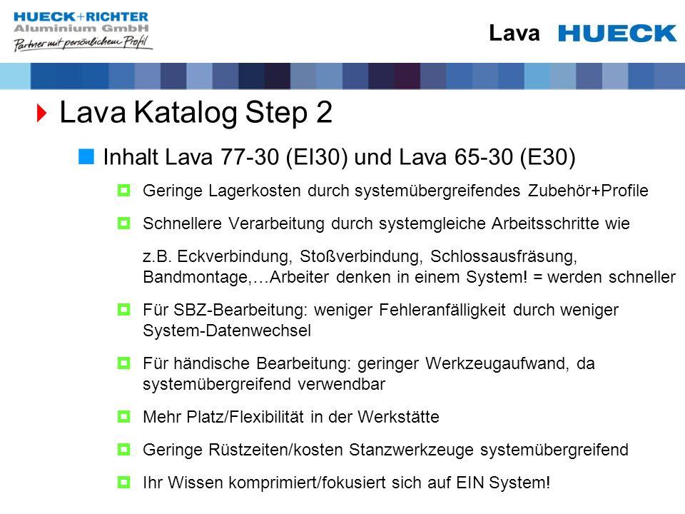 Lava Katalog Step 2 Lava Inhalt Lava 77-30 (EI30) und Lava 65-30 (E30)