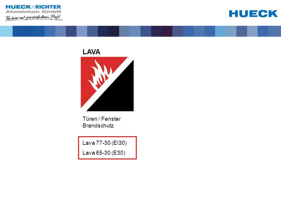 LAVA Türen / Fenster Brandschutz Lava 77-30 (EI30) Lava 65-30 (E30)