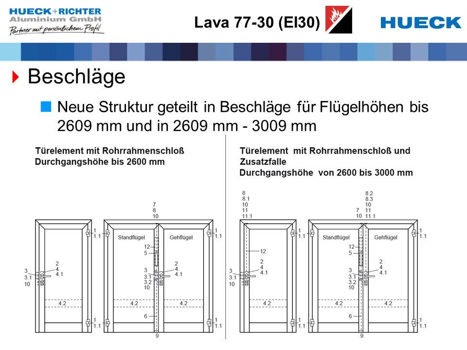 Lava 77-30 (EI30) Beschläge.