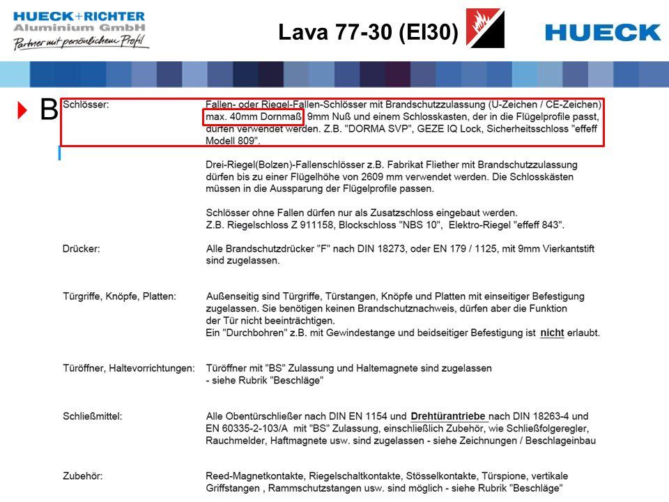 Lava 77-30 (EI30) Beschläge Systemunabhängige Beschläge
