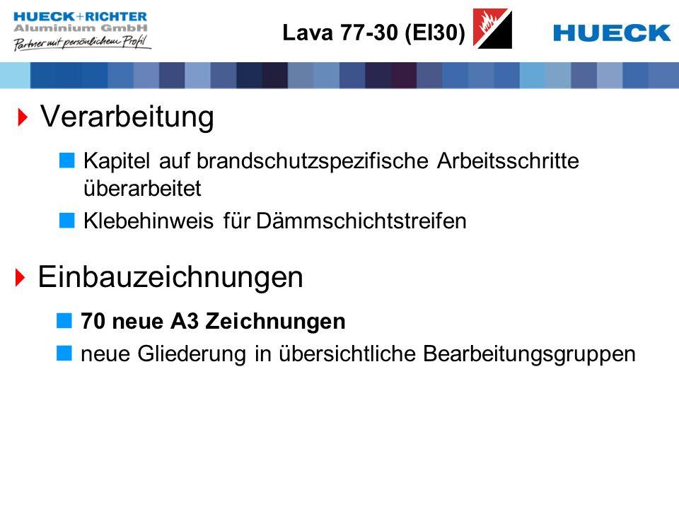 Verarbeitung Einbauzeichnungen Lava 77-30 (EI30)