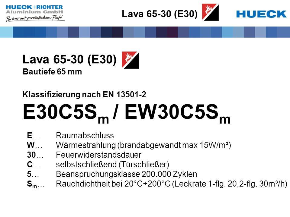 E30C5Sm / EW30C5Sm Lava 65-30 (E30) Lava 65-30 (E30) Bautiefe 65 mm
