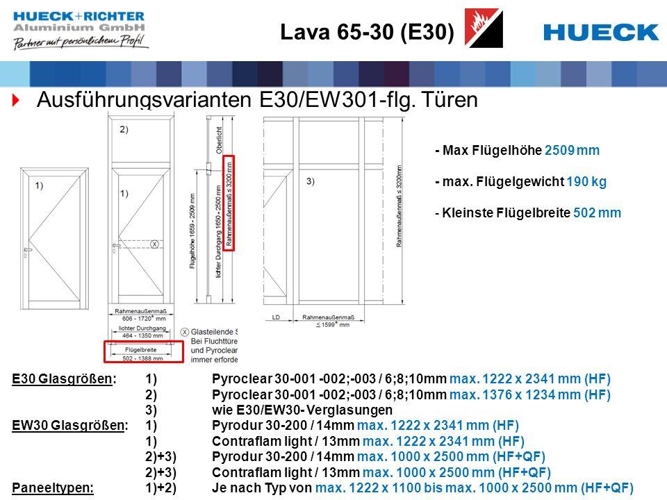 Ausführungsvarianten E30/EW301-flg. Türen