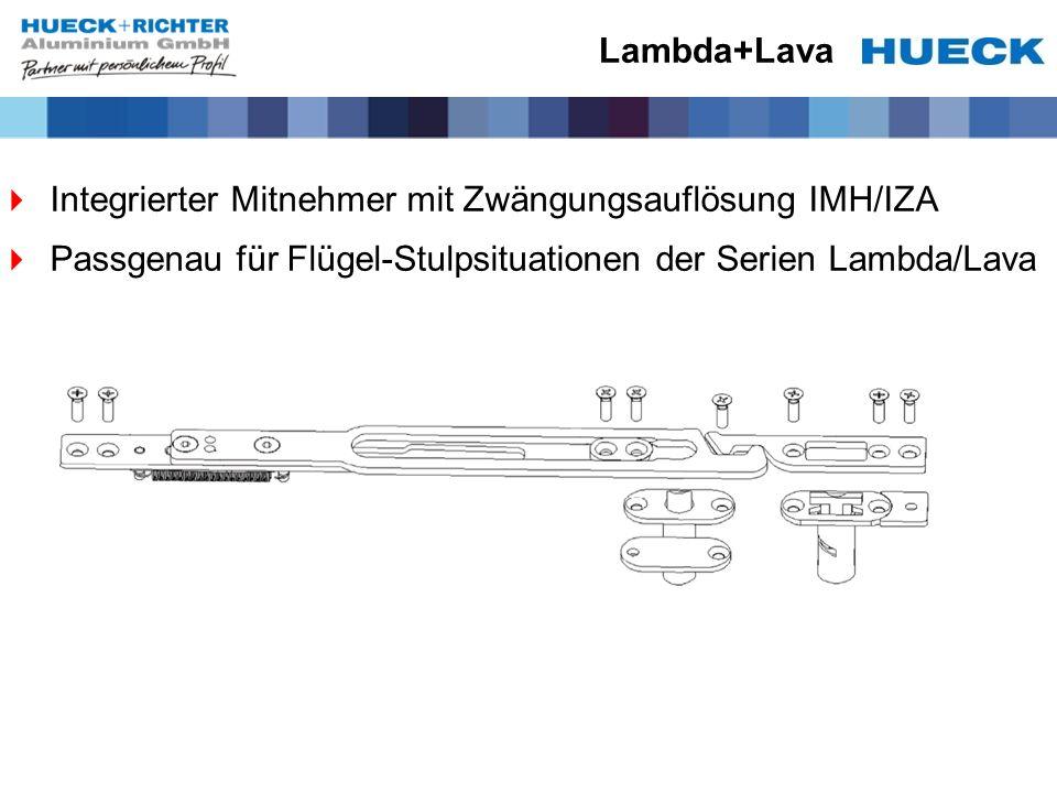 Lambda+Lava Integrierter Mitnehmer mit Zwängungsauflösung IMH/IZA.