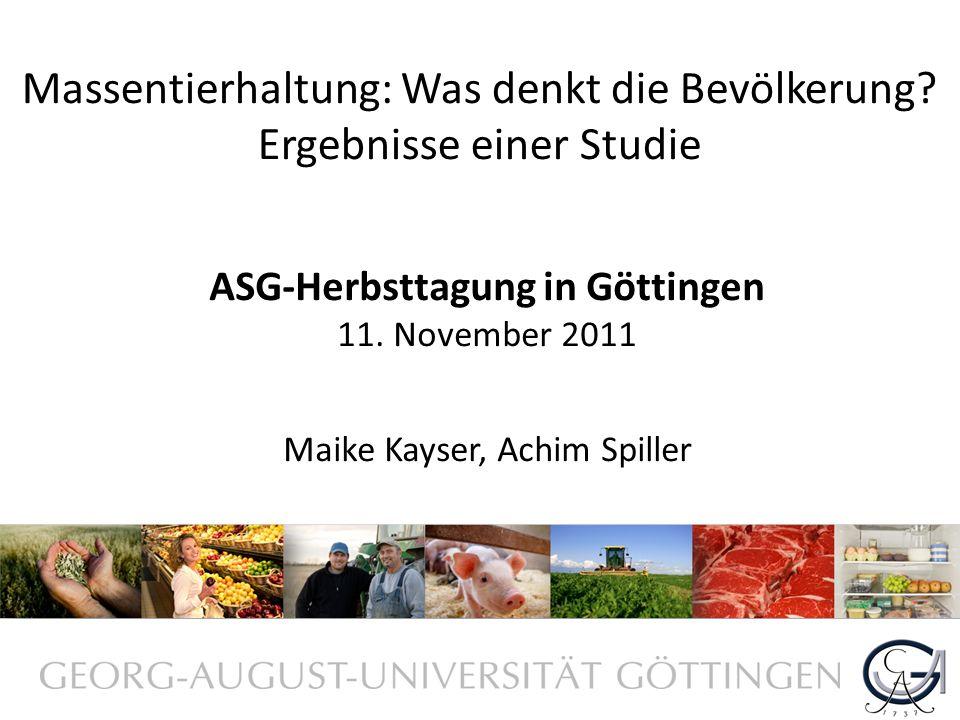 ASG-Herbsttagung in Göttingen