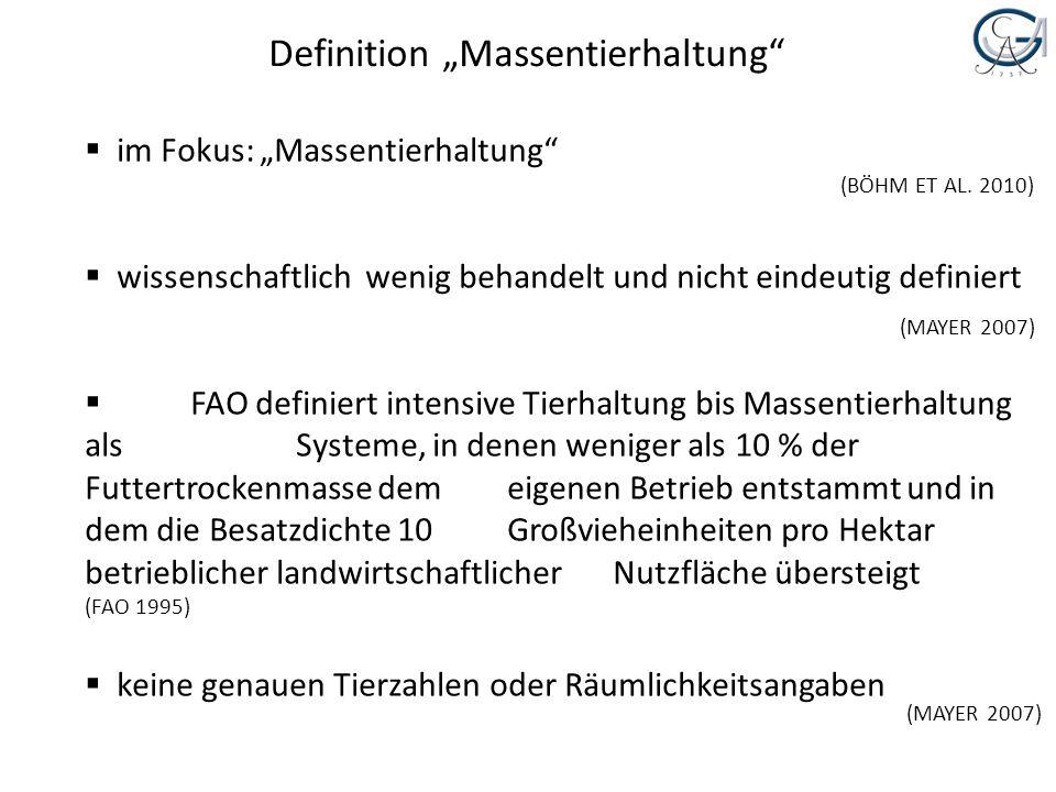 """Definition """"Massentierhaltung"""
