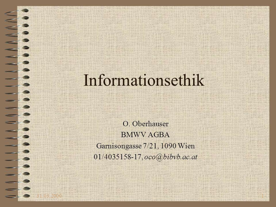 Informationsethik O. Oberhauser BMWV AGBA