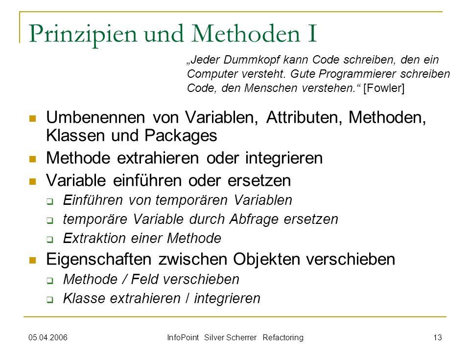 Prinzipien und Methoden I