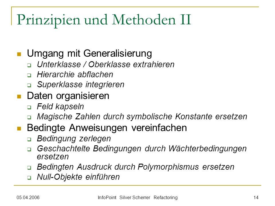 Prinzipien und Methoden II