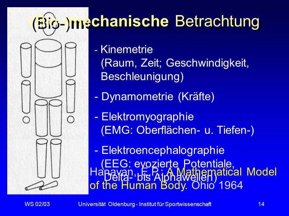 (Bio-)mechanische Betrachtung