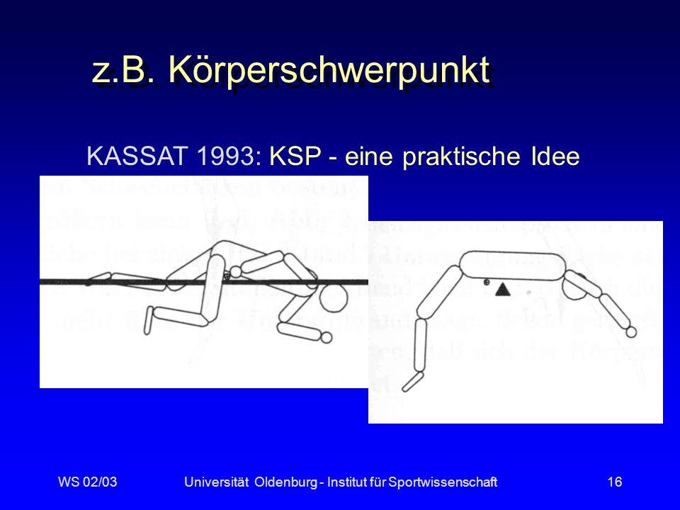 z.B. Körperschwerpunkt KASSAT 1993: KSP - eine praktische Idee