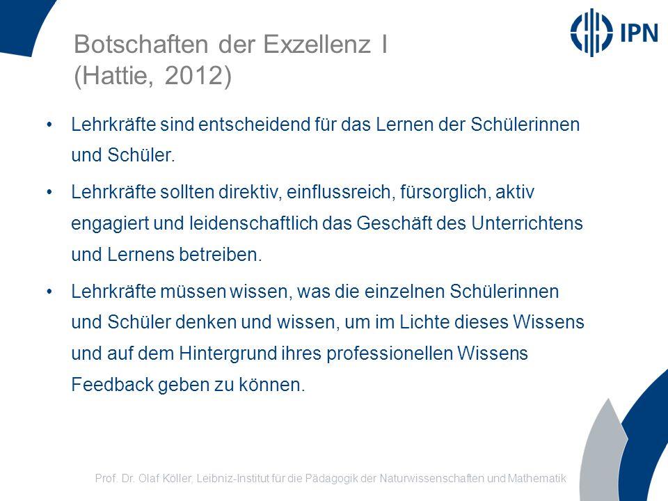 Botschaften der Exzellenz I (Hattie, 2012)
