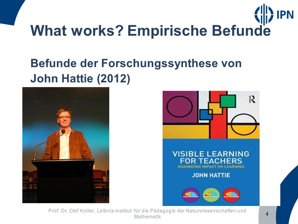 What works Empirische Befunde