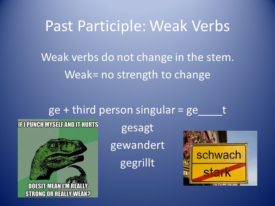 Past Participle: Weak Verbs