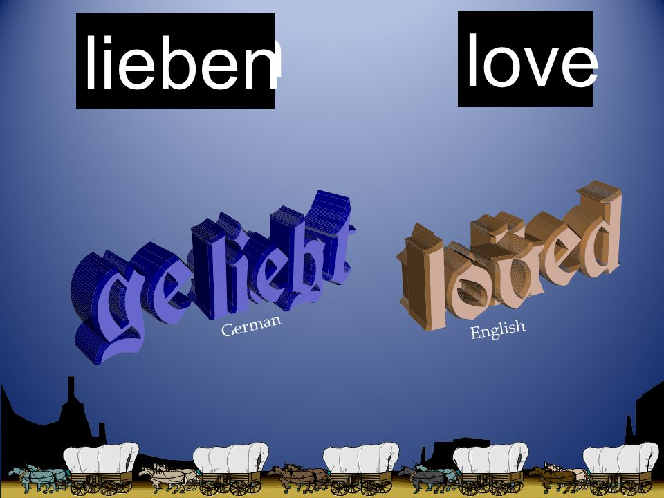 talk sagen love lieben German English