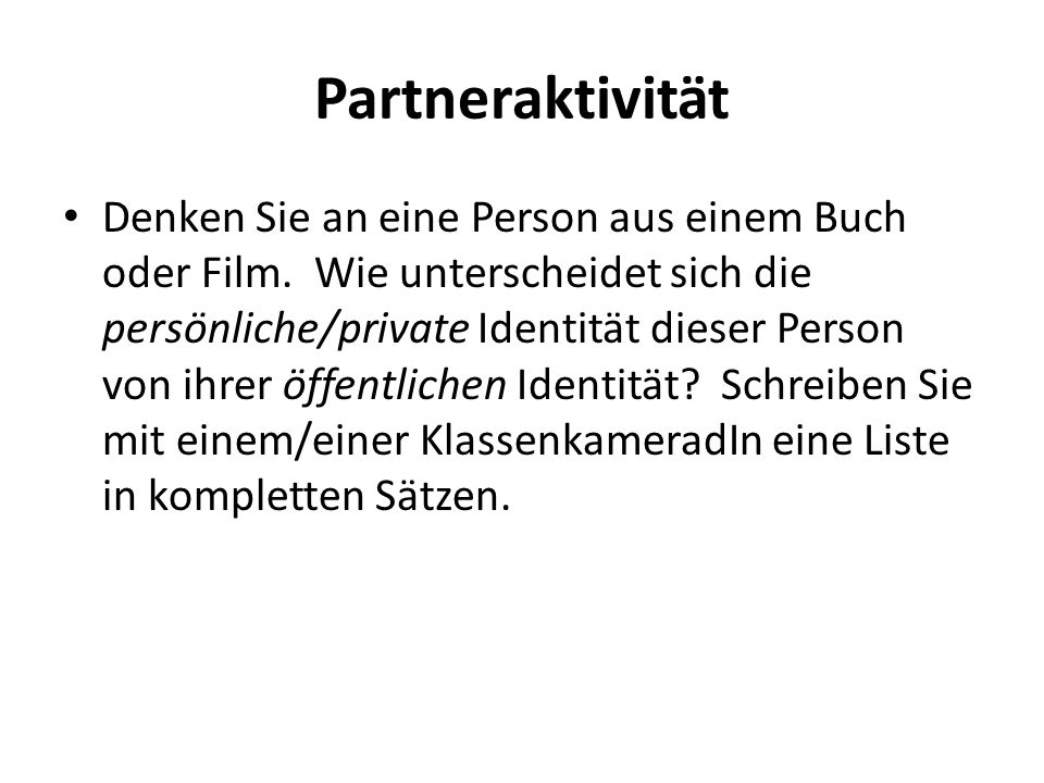 Partneraktivität