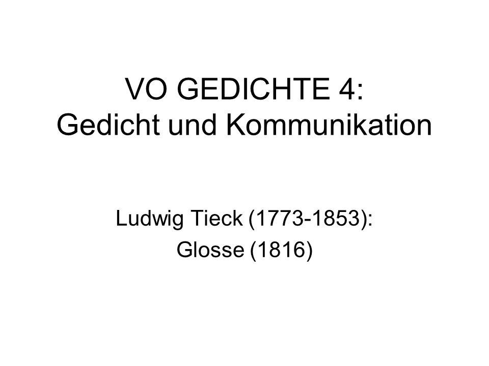 VO GEDICHTE 4: Gedicht und Kommunikation