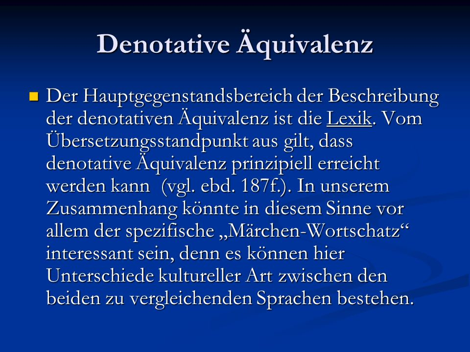 Denotative Äquivalenz