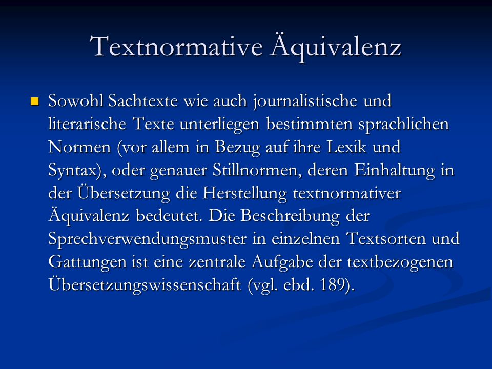 Textnormative Äquivalenz