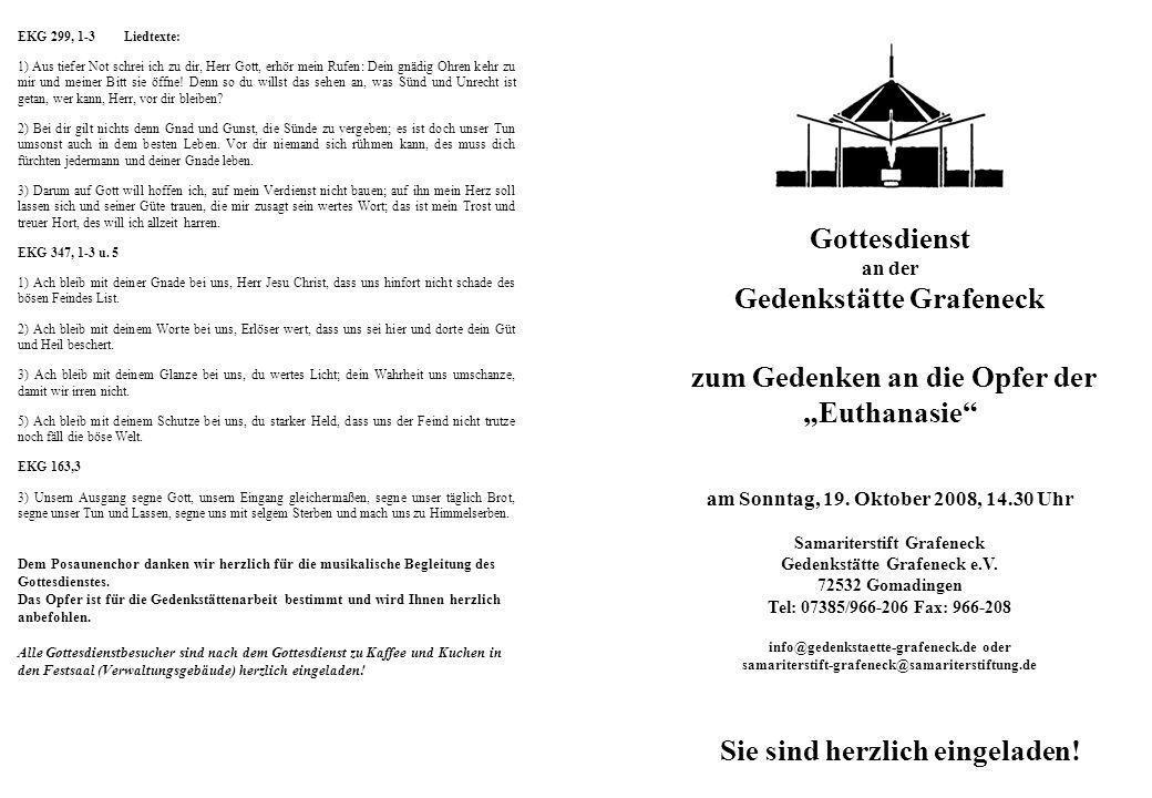 """Gedenkstätte Grafeneck zum Gedenken an die Opfer der """"Euthanasie"""