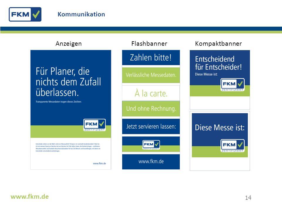 Kommunikation Anzeigen Flashbanner Kompaktbanner www.fkm.de